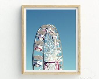 Ferris Wheel | Ferris Wheel art | big wheel picture | fairground picture | fairground painting | fairground poster | printable art | art