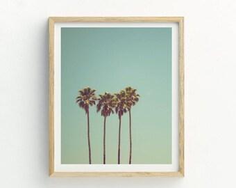 Tropical Palm Trees Print   Palm Trees Print   Palm Trees Wall Art   Tropical Art   Tropical Print   Palm Trees Photograph   Printable Art