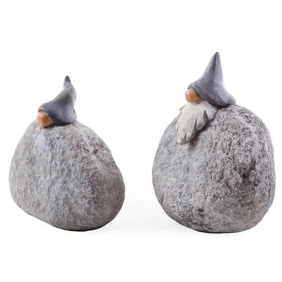 Garden Gnomes Rock Design Gnome Ornaments Novelty Gift Decoration