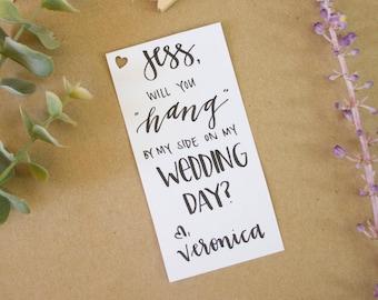 Hand Lettered Hanger Deco