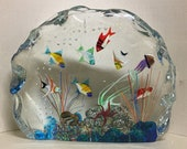 Murano Glass Aquarium lampwork aquarium Murano glass sculpture Murano glass sculpture handmade Murano glass glass Fish