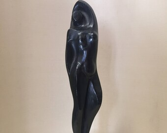 Bronze sculpture/Remo bombers/female figure in bronze/maiden in Bronze/bronze coated/female nude sculpture