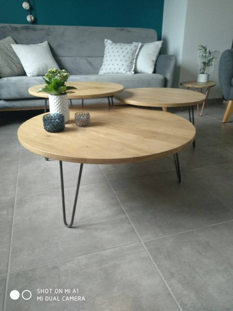 Hairpin Table Coffee Legs Solid With Blade Oak Triple Full QxsdhrtC