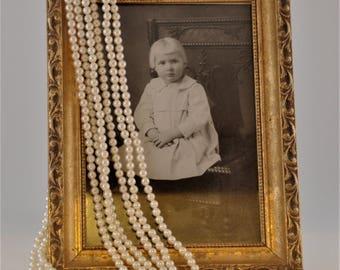 1970's Multi-strand Faux Pearl Necklace