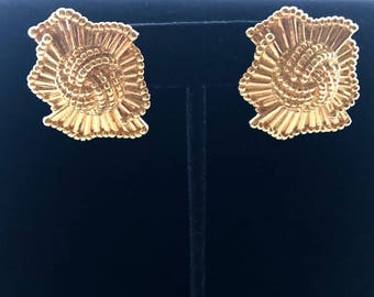 1990's  Gold Statement Earrings