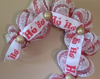 Christmas Wreath, Christmas Decor, Candy Cane Wreath, Candy Cane Decor