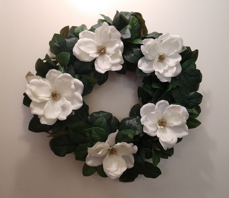 Farmhouse Magnolia Wreath Magnolia Decor Magnolia Door Etsy