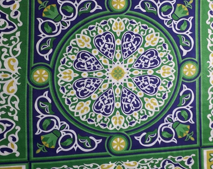 Tissu léger égyptien en polyester. Motif géométrique avec mandala. Ambiance champêtre - Décoration facile et sympa pour anniversaire