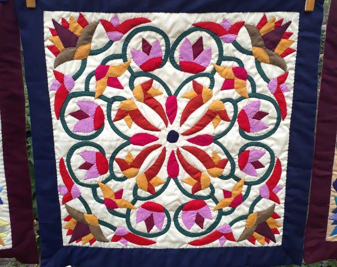 Housse de coussin égyptien - Khayameya - patchwork - appliqué - quilting - artisanat égyptien