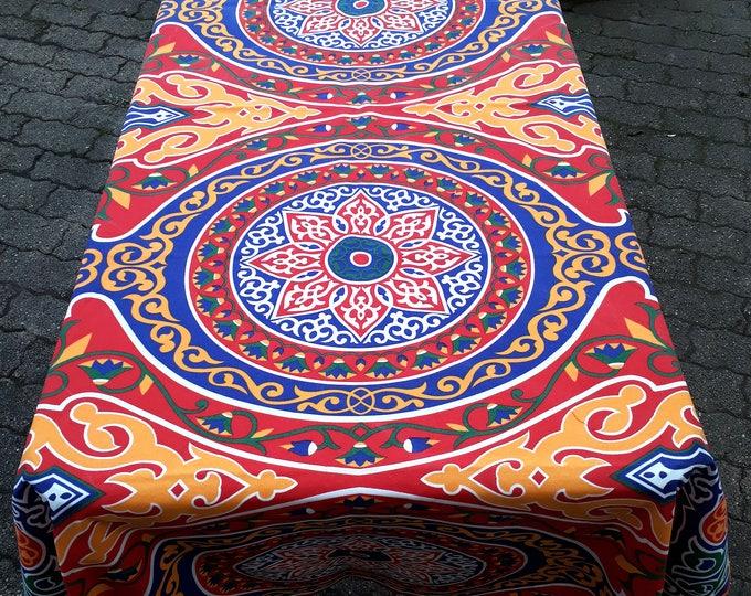 Egyptian cotton khayameya Ramadan tablecloth traditional of lotus flower wall hanging or table decor guest ethnic gift