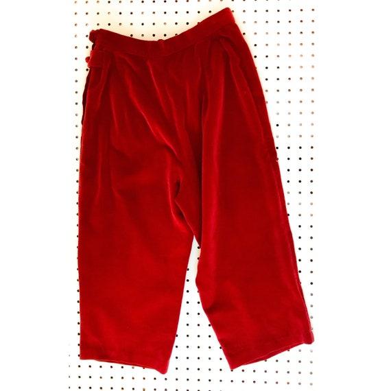 40s/ 50s vintage velvet cigarette pants, capris, … - image 1