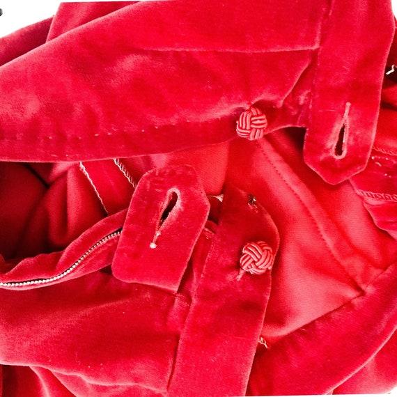 40s/ 50s vintage velvet cigarette pants, capris, … - image 5