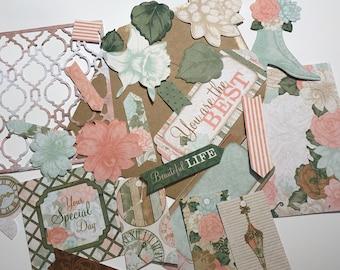 Pastel flower die cut set, 18 pieces