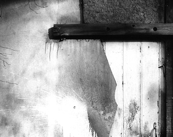 Abandoned Building  - Abstract - 35mm Film Photograph - Black and White Abstract Photography - Street Photography  - Urban Decay - UK