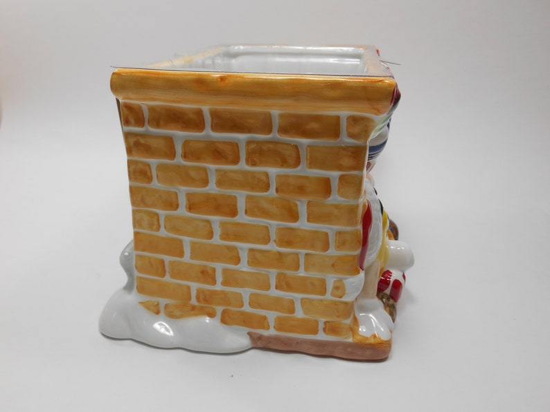 Vintage FTD M/&M/'s Candy Christmas Stocking Chimney Ceramic Planter New