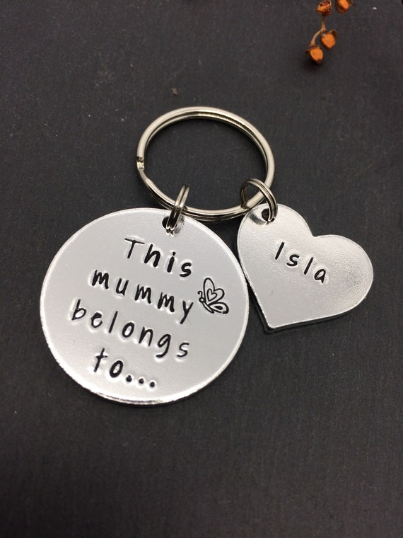 Mother/'s Day /'This Mummy Belong to.. KEYCHAIN PHOTO Personalised Gifts For Mum