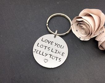 Love you keyring, love keychain, love gifts, personalised keyring, girlfriend gift, boyfriend gift, Christmas gift, anniversary gift