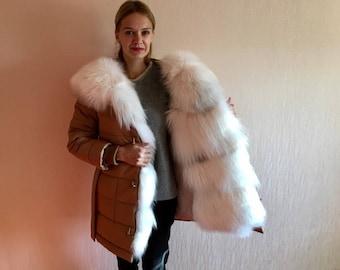 Fur parka, fur parka, parka, fox fur, fur coat, real fur, women's parka, jacket with fur, hooded parka, vintage parka, parka coat