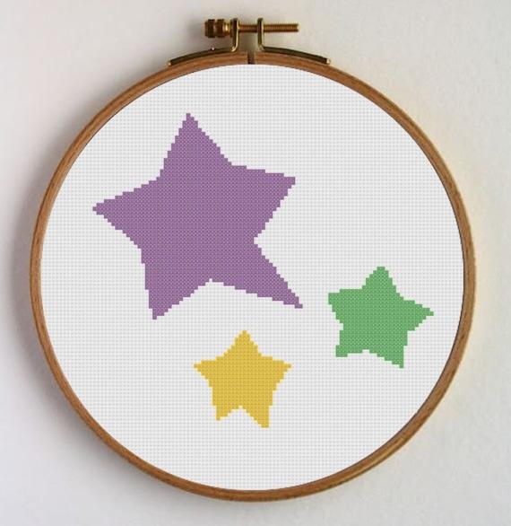 Unicornio Patrones para punto de cruz Unicornio color lila | Etsy