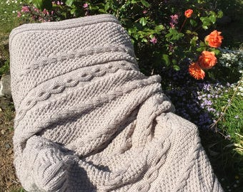 Hand Knitted Quality Blanket/Throws and Runners