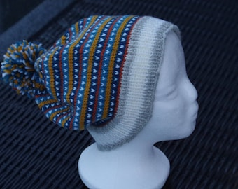 Knitted hat of wool