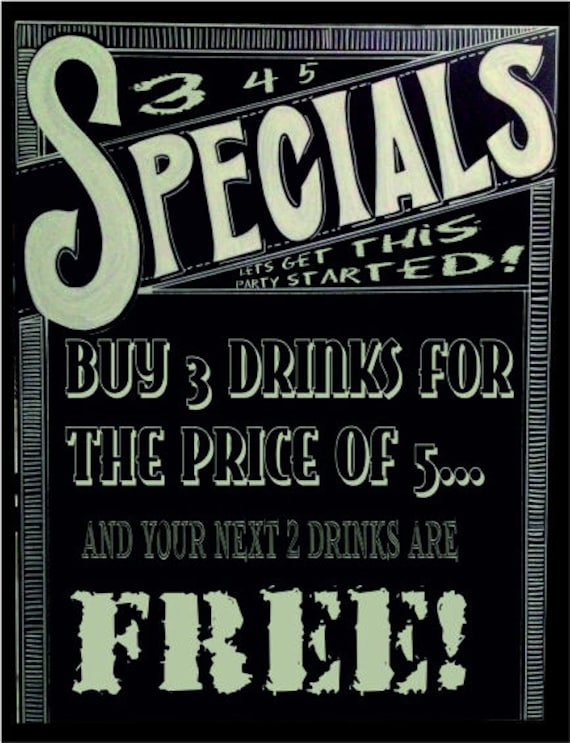 Special beer pub bar offer lets get this party started metal wall plaque sign