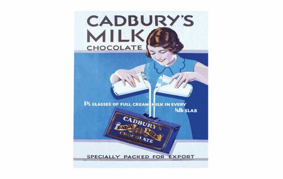 Cadbury/'s dairy milk chocolate retro vintage style metal wall plaque sign