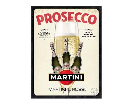 Martini nostalgique plaque murale en m/étal de cuisine fantaisie Cadeau publicitaire