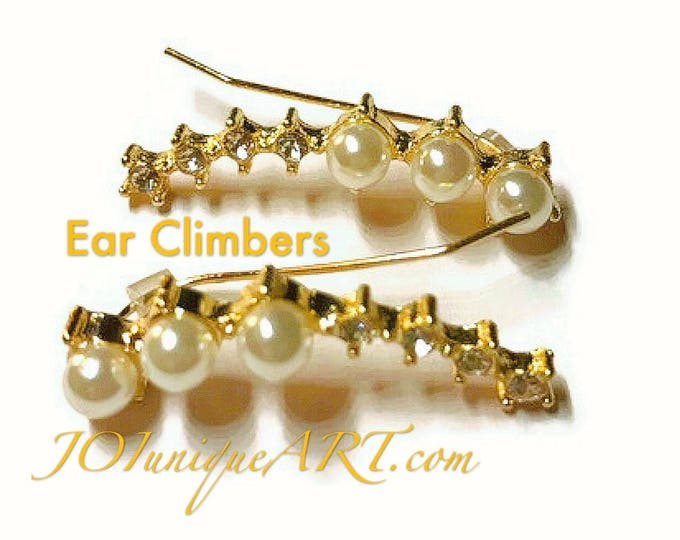 Ear DAINTY CLIMBER, EARRINGS Climbers, ear Crawlers are Dainty and Delicate.
