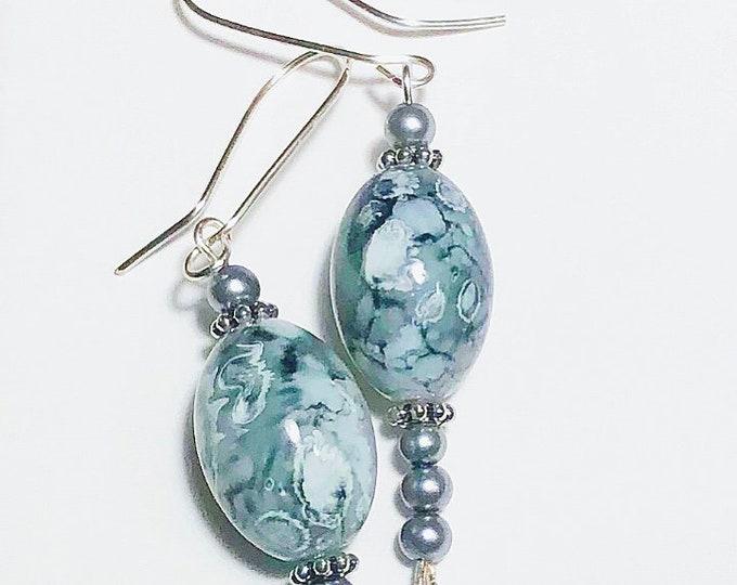 Earrings. Fashion Beautiful Jasper EARRINGS, jewelry.Gift idea.