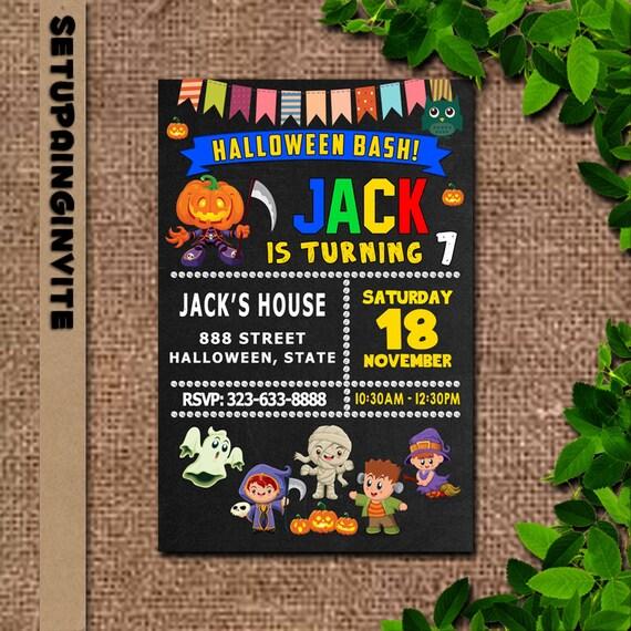 Kids Halloween Birthday Party Invitations Kids Halloween Party Invitations Kids Halloween Party Invites Halloween Birthday Party Invitation