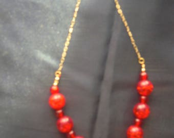 Necklace Red Beauty Louise series No. 8