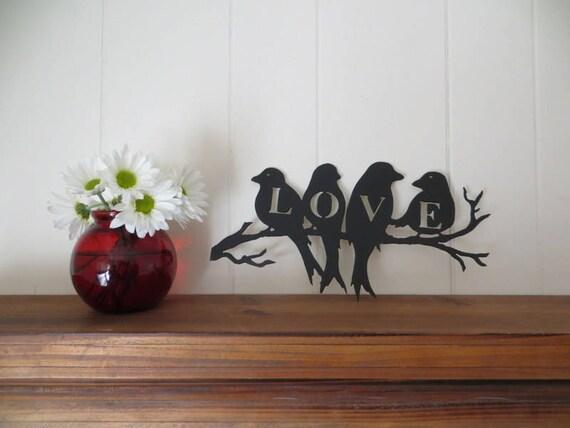 Love Birds Cnc Plasma Cut Metal Art Wall Hanging Wedding Anniversary Gift Home Decor Signs