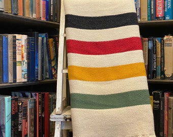 Pisgah Stripe Woven Throw - Pisgah National Forest Blanket - Vintage Camp Inspired Pattern - 100% Cotton MADE IN USA