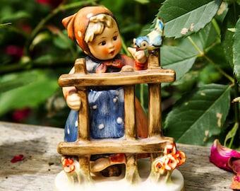 Sale 20% Off! Hummel Figurine Signs of Spring Vintage TMK4 203 2/0 1960s Goebel West Germany Figurine