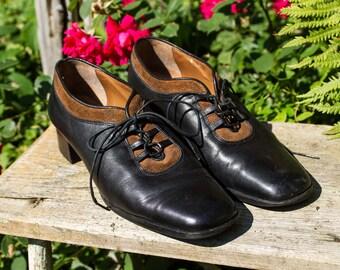 e9295a768da61 Roberto Capucci cuir fait en chaussures taille 8 B Italie Vintage femmes