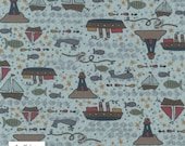 CLEARANCE Ship to Shore 706901-70 Boats by Lynette Anderson Fabric Collection Sold Per Long Quarter Metre Yard (Add 4 in Qty Box)