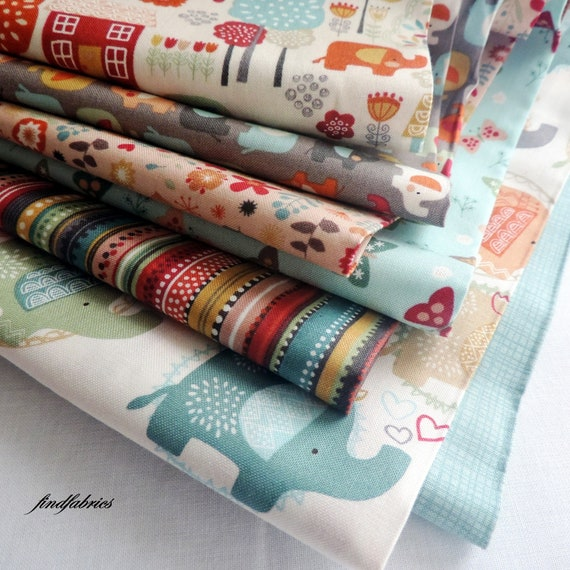 Clearance Ellie Fun Bright Or Soft Teal Colourway Fabric By Etsy