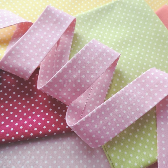Lilac Stripe Bias Binding extra wide Cotton Fabric Folded Trim 30mm