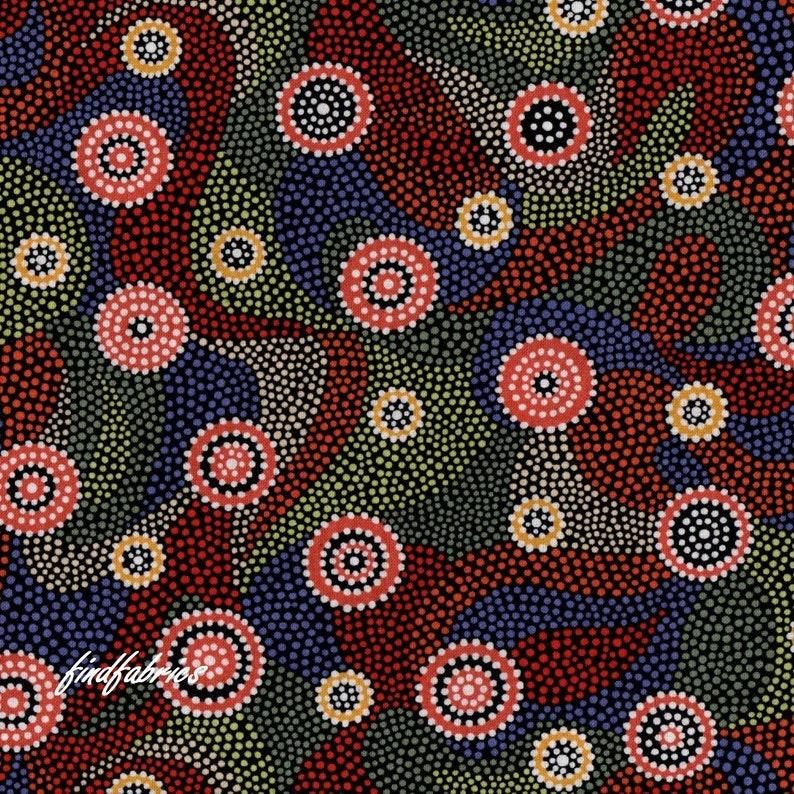 Women Dreaming Black Australian Aboriginal Fabric Patchwork Quilting Craft FQ