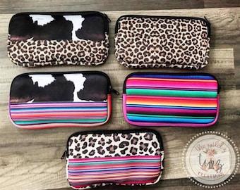 c2364377e867 Boho Cosmetic Bags-Leopard Cosmetic Bags-Travel Makeup Bags-Serape Cosmetic  Bags-Cow Cosmetic Bags