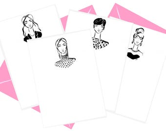Socialite Stationery Set of 8