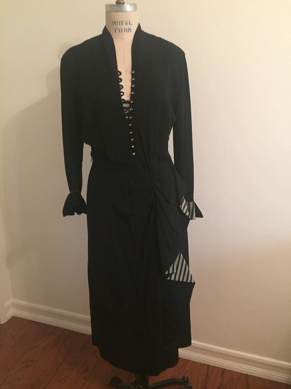 Black 1940's Cocktail Dress