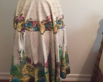 Vintage hand Painted 1950's Skirt
