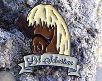 Li'l Sebastian Enamel Pin | Parks and Rec