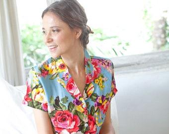 Cotton Floral Pajama Set 32247314a