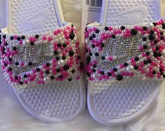 5332f7fdafa648 Bling Nike Slides  Pre-order