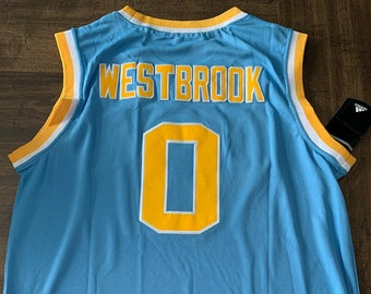 dbe3702d2065 R Westbrook UCLA Bruins Thunder XL Throwback Mens Jersey new