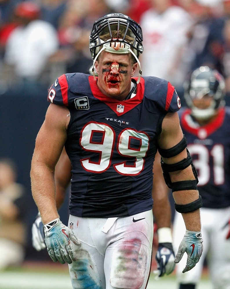 Image result for JJ Watt blood