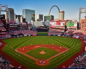 Busch Stadium St. Louis Cardinals Missouri Skyline 11x14 Photo Print Wall  Decor Man Cave Sports Room